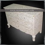 BNAL-037 A SHELL INLAID EYE CATCHING CHEST OF DRAWER