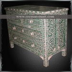 BNAL-102 A PREETY BONE INLAID CHEST OF DRAWER