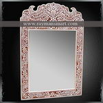 BNFR-093 AN ELEGENT BONE INLAID MIRROR FRAME