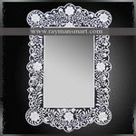 BNFR-168 A REMARKEBLE BONE OVERLAID MIRROR FRAME