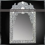 BNFR-107 A BEAUTIFUL BONE OVERLAID MIRROR FRAME