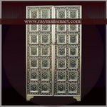 MNAL-038 A WHITE METAL MEENAKARI FLORAL CABINET