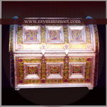 MNBX-078 A SMALL MEENAKARI JEWELLERY BOX