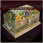 MNBX-230 A HERITAGE LOOK MEENAKARI BOX FOR KEEPING JEWELLERY