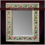 MNFR-099 A ROYAL LOOK MEENAKARI MIRROR FRAME