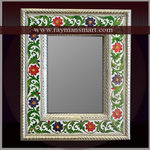 MNFR-100 A ROYAL LOOK MEENAKARI MIRROR FRAME