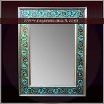 MNFR-117 A MIND-BLOWING MEENAKARI MIRROR FRAME