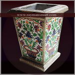 MNPL-003 A BEAUTIFUL MEENAKARI PLANTER