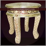 MNST-036 A TRADITIONAL MEENAKARI STOOL