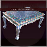 MNTB-068 A BEAUTIFUL MEENAKARI COFFEE TABLE WITH DIFFERENT LOOK