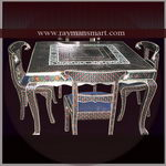 MNTB-082 A TRADITIONAL MEENAKARI DINING TABLE