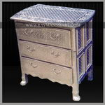 WMAL-001 A BEAUTIFUL WHITE METAL CHEST OF DRAWERS