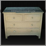 WMAL-041 A BEAUTIFUL WHITE METAL CHEST OF 4 DRAWER