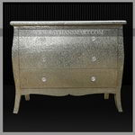 WMAL-097 WHITE METAL CHEST OF 4 DRAWER