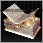 WMBX-001 A WHITE METAL HOLY BOOK KEEPING BOX