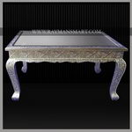 WMTB-005 A ATTRACTIVE WHITE METAL COFFEE TABLE