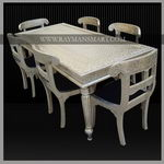 WMTB-097 A MIND-BLOWING WHITE METAL DINING SET