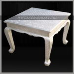 WMTB-109 A BEAUTIFUL WHITE METAL COFFEE TABLE