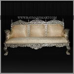 SCSF-034 A SILVER CLADDED SOFA SET