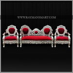 SCSF-047 A SILVER CLADDED SOFA SET