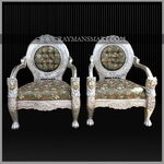 SCSF-073 A BEAUTIFUL SILVER CLADDED SOFA SET