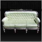 SCSF-099 A ROYAL LOOK SILVER CLADDED SOFA SET