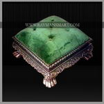 SLFS-008 A EXQUISITE CARVED FOOT STOOL WITH TOP CUSHIONED