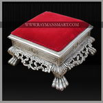 SLFS-025 A REMARKBLE CARVED FOOT STOOL WITH TOP CUSHIONED
