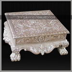 SLFS-042 A REMARKBLE SILVER CARVED FOOT STOOL