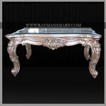 SLTB-031 A MIND-BLOWING PURE SILVER CENTRE TABLE WITH GLASS TOP